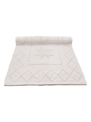 star champagne woven cotton floor mat small
