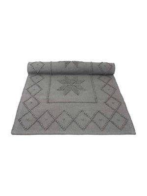 star grey woven cotton floor mat xsmall