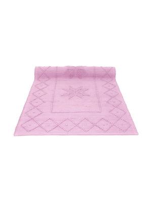 star baby pink woven cotton badmat