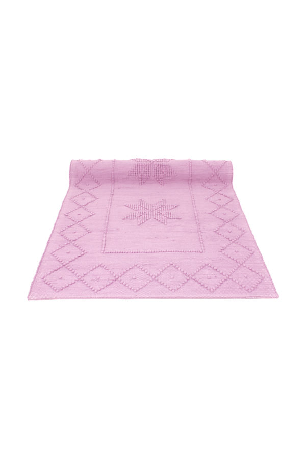 star baby pink woven cotton badmat