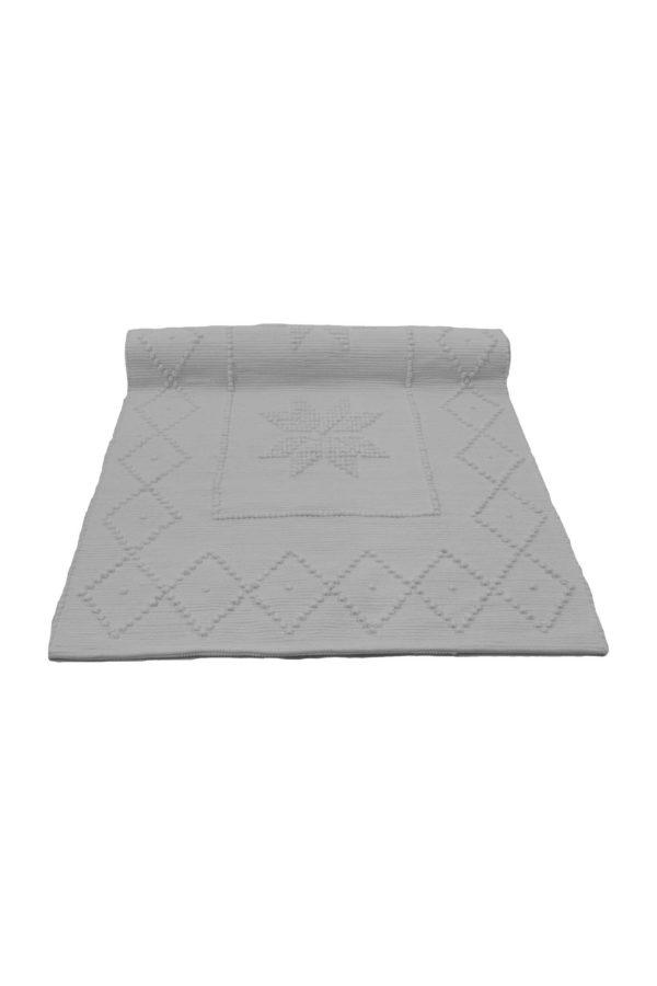 star white woven cotton floor mat xsmall