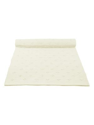 liz off-white woven cotton floor runner large