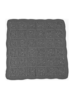granny anthracite crochet cotton rug xlarge