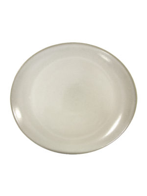 oval plate milk glaze ceramic medium