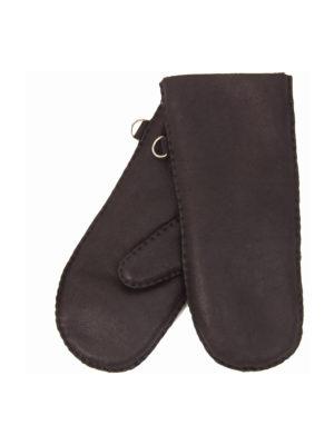 urban choc nappa sheepfur mittens (men) large