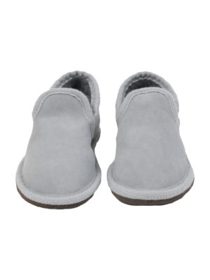 urban grey sheep fur mule medium