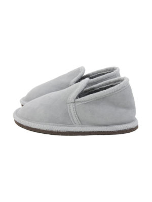 urban grey sheep fur mule small