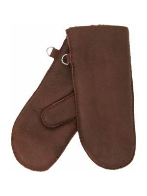 urban toffee nappa sheepfur mittens (men) large