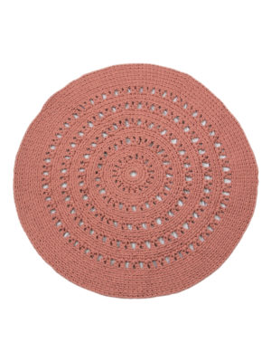arab marsala rose crochet cotton rug large