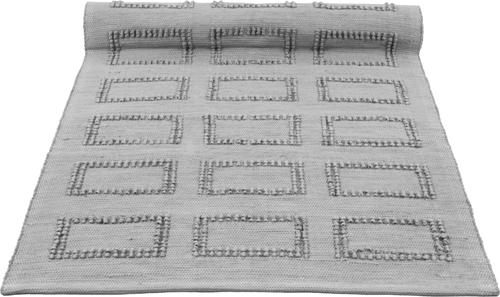 quadro light grey woven cotton rug medium