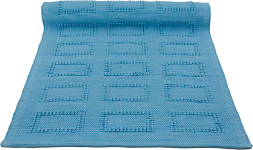 quadro turquoise woven cotton rug medium