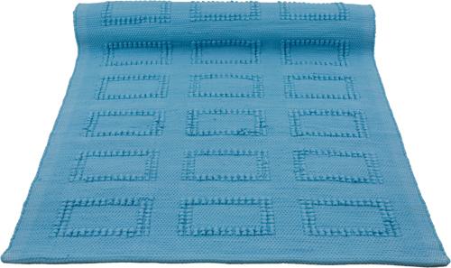 quadro turquoise woven cotton rug medium