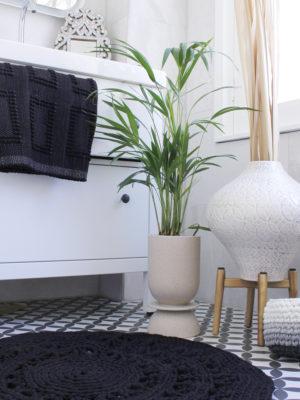 styling arab crochte rug black medium