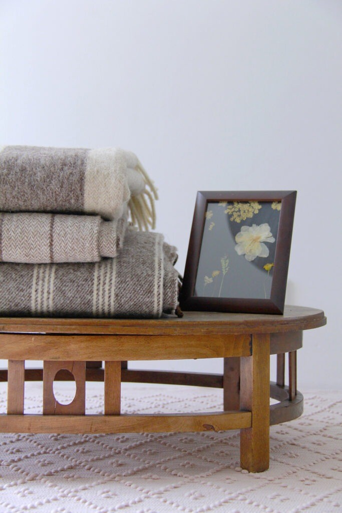 styling chair vintage wool plaids
